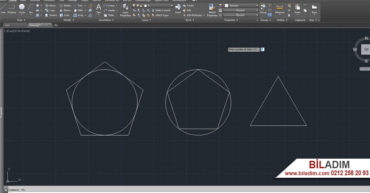 Autocad programı polygon çokgen çizme komutu