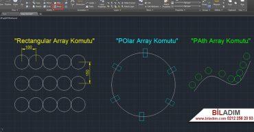 autocad-array-komutu
